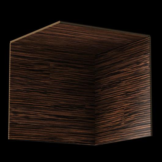 Акустическая панель Perfect-Acoustics Octa 3 мм без перфорации шпон Эбеновое дерево 375 Макассар 10.41 негорючая - изображение 3 - интернет-магазин tricolor.com.ua