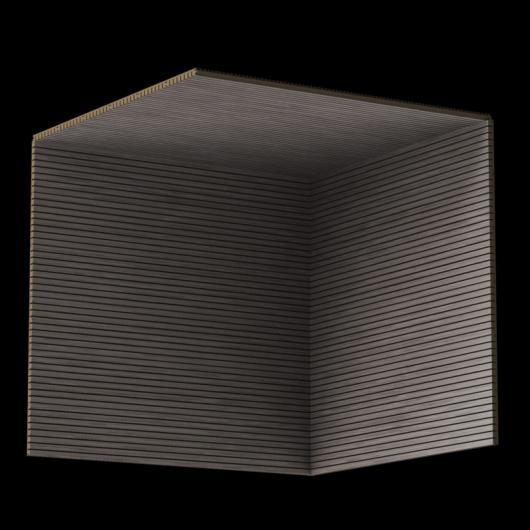 Акустическая панель Perfect-Acoustics Octa 3 мм без перфорации шпон Венге белый 11.11 Dark Grey Lati негорючая - изображение 3 - интернет-магазин tricolor.com.ua