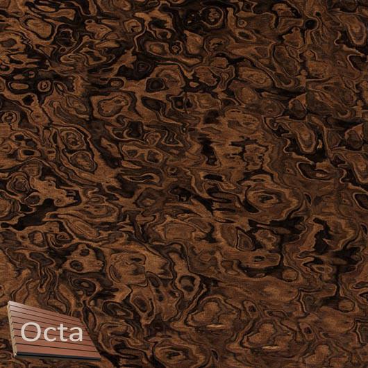 Акустическая панель Perfect-Acoustics Octa 3 мм без перфорации шпон Корень ореха калифорнийского 10.06 негорючая - интернет-магазин tricolor.com.ua
