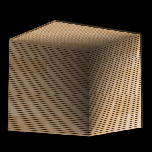 Акустическая панель Perfect-Acoustics Octa 3 мм без перфорации шпон Корень ясеня 10.08 негорючая - изображение 3 - интернет-магазин tricolor.com.ua