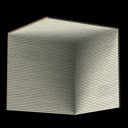 Акустическая панель Perfect-Acoustics Octa 3 мм без перфорации шпон Эбен белый Apus 02 ARG TBL 1B2183-00-XV негорючая - изображение 3 - интернет-магазин tricolor.com.ua