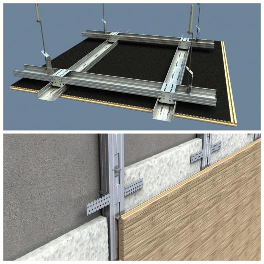 Акустическая панель Perfect-Acoustics Octa 3 мм без перфорации шпон Меранти 2M-77 негорючая - изображение 2 - интернет-магазин tricolor.com.ua