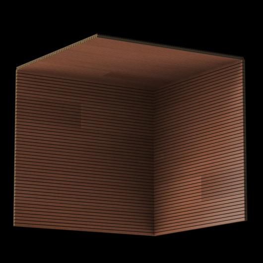 Акустическая панель Perfect-Acoustics Octa 3 мм без перфорации шпон Меранти 2M-77 негорючая - изображение 6 - интернет-магазин tricolor.com.ua