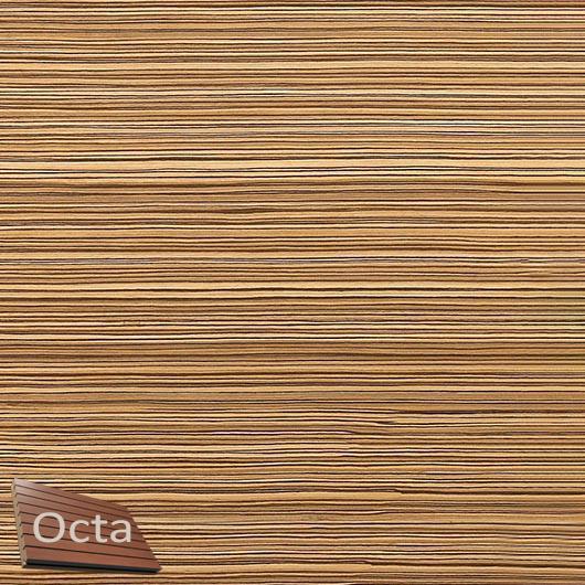 Акустическая панель Perfect-Acoustics Octa 3 мм с перфорацией шпон Зебрано 10.88 Zingana стандарт - интернет-магазин tricolor.com.ua