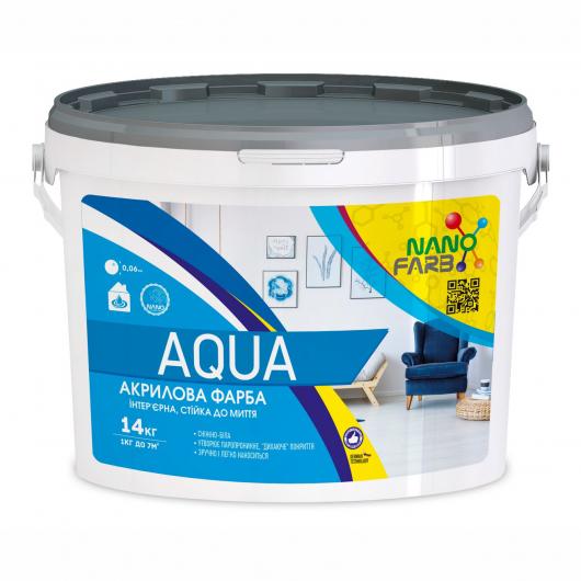 Интерьерная акриловая краска моющая Aqua Nanofarb - изображение 3 - интернет-магазин tricolor.com.ua