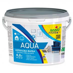 Интерьерная акриловая краска моющая Aqua Nanofarb - изображение 2 - интернет-магазин tricolor.com.ua
