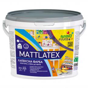 Интерьерная акриловая латексная краска моющая Mattlatex Nanofarb База A - изображение 3 - интернет-магазин tricolor.com.ua