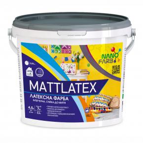 Интерьерная акриловая латексная краска моющая Mattlatex Nanofarb База A - изображение 2 - интернет-магазин tricolor.com.ua