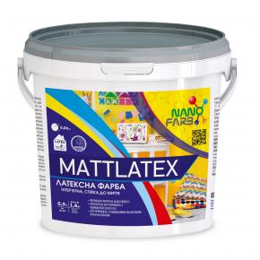 Интерьерная акриловая латексная краска моющая Mattlatex Nanofarb База C (под колеровку) - интернет-магазин tricolor.com.ua