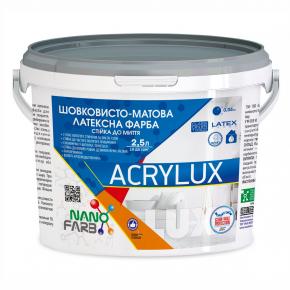 Интерьерная шелковисто-матовая латексная краска Acrylux Nanofarb База A - изображение 3 - интернет-магазин tricolor.com.ua