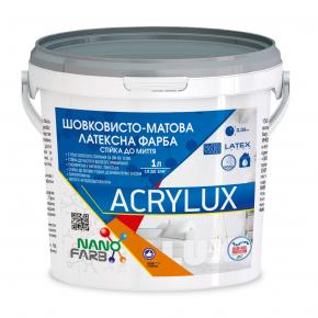 Интерьерная шелковисто-матовая латексная краска Acrylux Nanofarb База C (под колеровку) - интернет-магазин tricolor.com.ua