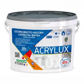 Интерьерная шелковисто-матовая латексная краска Acrylux Nanofarb База C (под колеровку) - изображение 3 - интернет-магазин tricolor.com.ua