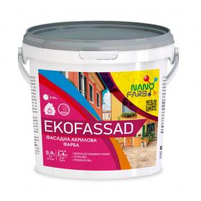 Акриловая фасадная краска Ekofassad Nanofarb База C (под колеровку) - интернет-магазин tricolor.com.ua