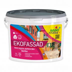Акриловая фасадная краска Ekofassad Nanofarb База C (под колеровку) - изображение 3 - интернет-магазин tricolor.com.ua