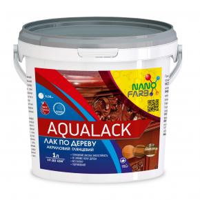 Лак по дереву акриловый Aqualack Nanofarb глянцевый