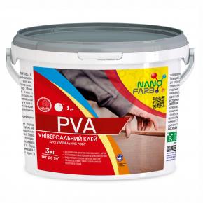 Клей строительный универсальный PVA Nanofarb - изображение 2 - интернет-магазин tricolor.com.ua