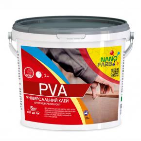 Клей строительный универсальный PVA Nanofarb - изображение 3 - интернет-магазин tricolor.com.ua
