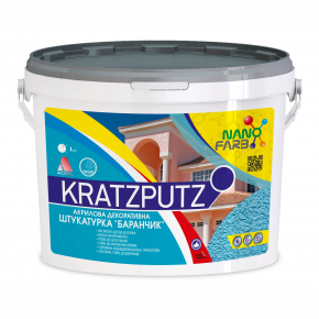 Акриловая декоративная штукатурка Kratzputz Nanofarb