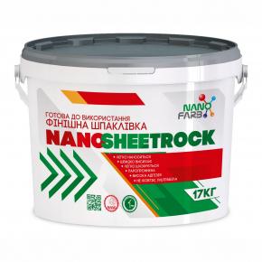 Шпаклевка финишная виниловая Nanosheetrock Nanofarb - изображение 4 - интернет-магазин tricolor.com.ua