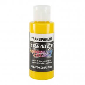 Краска для аэрографии прозрачная Ярко-желтая Createx Airbrush Colors Transparent Brite Yellow 5114 - интернет-магазин tricolor.com.ua
