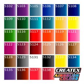 Краска для аэрографии прозрачная Ярко-красная Createx Airbrush Colors Transparent Brite Red 5117 - изображение 3 - интернет-магазин tricolor.com.ua