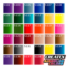 Краска для аэрографии прозрачная Красная Createx Airbrush Colors Transparent Sunset Red 5118 - изображение 3 - интернет-магазин tricolor.com.ua