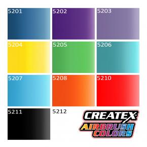 Краска для аэрографии непрозрачная Синяя Createx Airbrush Colors Opaque Blue 5201 - изображение 3 - интернет-магазин tricolor.com.ua