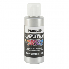 Краска для аэрографии перламутровая Серебряная Createx Airbrush Colors Pearl Silver 5308