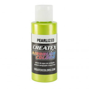 Краска для аэрографии перламутровая Лимонно-зеленая Createx Airbrush Colors Pearl Lime 5313 - интернет-магазин tricolor.com.ua