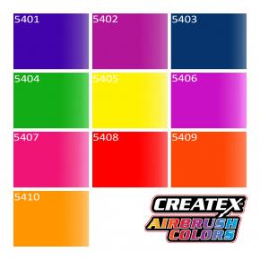 Краска для аэрографии флуоресцентная Зеленая Createx Airbrush Colors Fluorescent Green 5404 - изображение 3 - интернет-магазин tricolor.com.ua