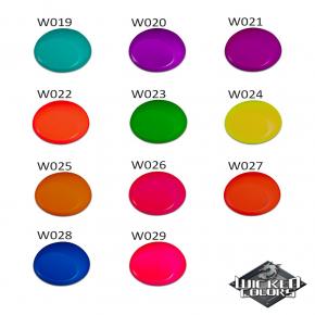 Краска для аэрографии Wicked Colors Fluorescent Aqua Морской волны W019 - изображение 3 - интернет-магазин tricolor.com.ua