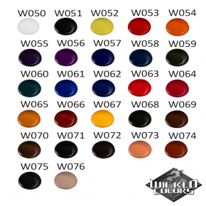 Краска для аэрографии Wicked Colors Detail Viridian Голубовато-зеленая W060 - изображение 3 - интернет-магазин tricolor.com.ua
