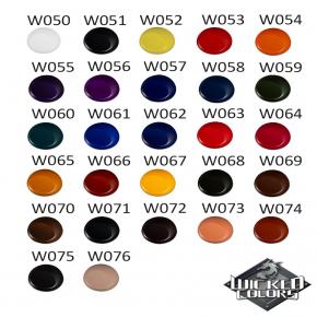 Краска для аэрографии Wicked Colors Detail Burnt Orange Желтовато-красная W066 - изображение 3 - интернет-магазин tricolor.com.ua