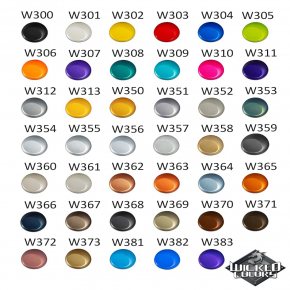 Краска для аэрографии Wicked Colors Metallic Midnight Blue Темно-синяя металлик W366 - изображение 3 - интернет-магазин tricolor.com.ua