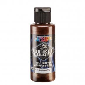 Краска для аэрографии Wicked Colors Metallic Light Brown Светло-коричневый металлик W370 - интернет-магазин tricolor.com.ua