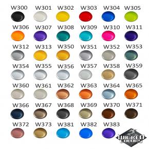 Краска для аэрографии Wicked Colors Metallic Light Brown Светло-коричневый металлик W370 - изображение 3 - интернет-магазин tricolor.com.ua