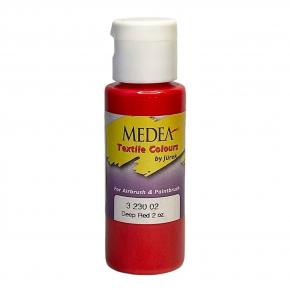 Краска для ткани Medea Deep Red Opaque Темно-красная укрывистая 323002