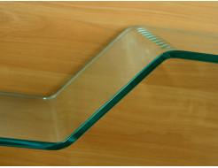 Стеклянная полка в форме H бесцветная, без крепления (8/200 мм) - изображение 2 - интернет-магазин tricolor.com.ua