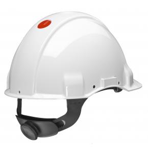 Каска защитная 3М G3001MUV1000V-VI диэлектрическая с храповиком без вентиляции Белая