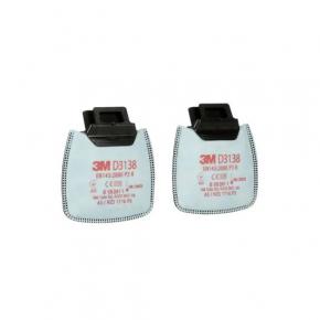 Фильтр 3M Secure Click D3138 P3 R защита от органических и кислых газов и паров, от озона (пара) - интернет-магазин tricolor.com.ua