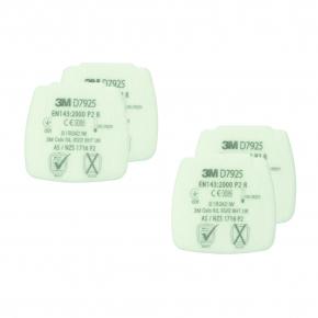 Фильтр 3M Secure Click D7925 P2 R от твердых и жидких частиц 2 пары