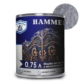 Краска молотковая Viking Hammer Серая - интернет-магазин tricolor.com.ua
