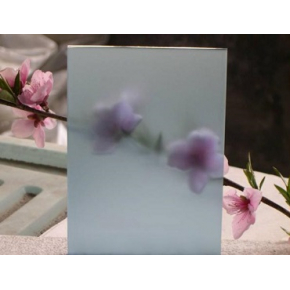 Стекло сатин двухсторонний голубое 4 мм