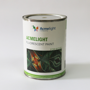 Краска флуоресцентная AcmeLight Fluorescent Wood для дерева белая - изображение 3 - интернет-магазин tricolor.com.ua