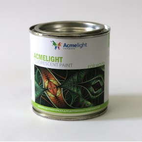 Краска флуоресцентная AcmeLight Fluorescent Wood для дерева зеленая - изображение 2 - интернет-магазин tricolor.com.ua