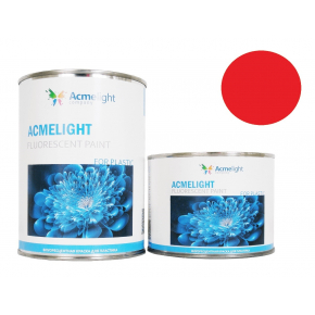 Краска флуоресцентная AcmeLight Fluorescent Plastic 2K для пластика красная