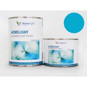 Краска флуоресцентная AcmeLight Fluorescent Glass 2K для стекла голубая