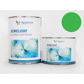 Краска флуоресцентная AcmeLight Fluorescent Glass 2K для стекла зеленая - изображение 2 - интернет-магазин tricolor.com.ua