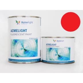 Краска флуоресцентная AcmeLight Fluorescent Glass 2K для стекла красная