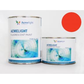 Краска флуоресцентная AcmeLight Fluorescent Glass 2K для стекла оранжевая